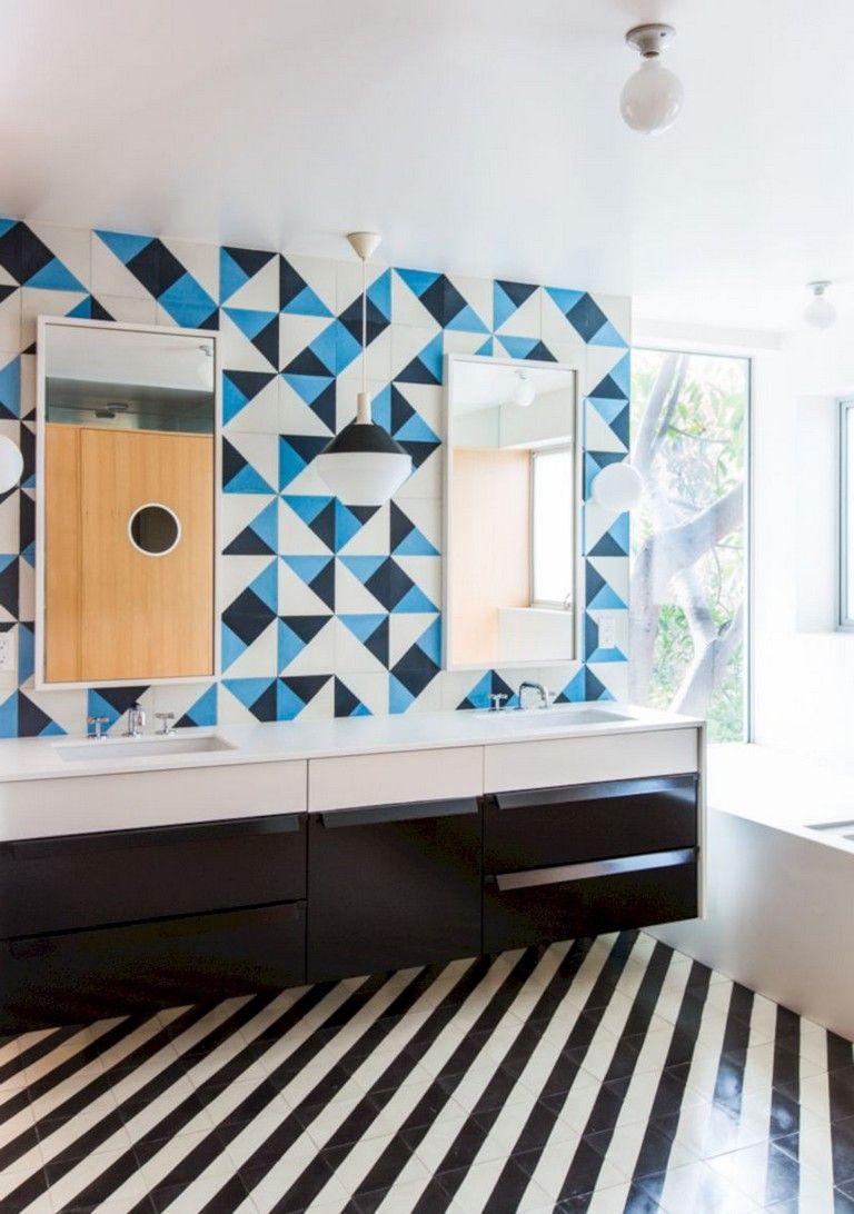 amazing geometric falling block tiles design ideas home decor