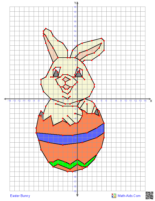 Printable Worksheets graphing on a coordinate plane worksheets : Easter Bunny - Just in time for Easter! | Math-Aids.Com ...