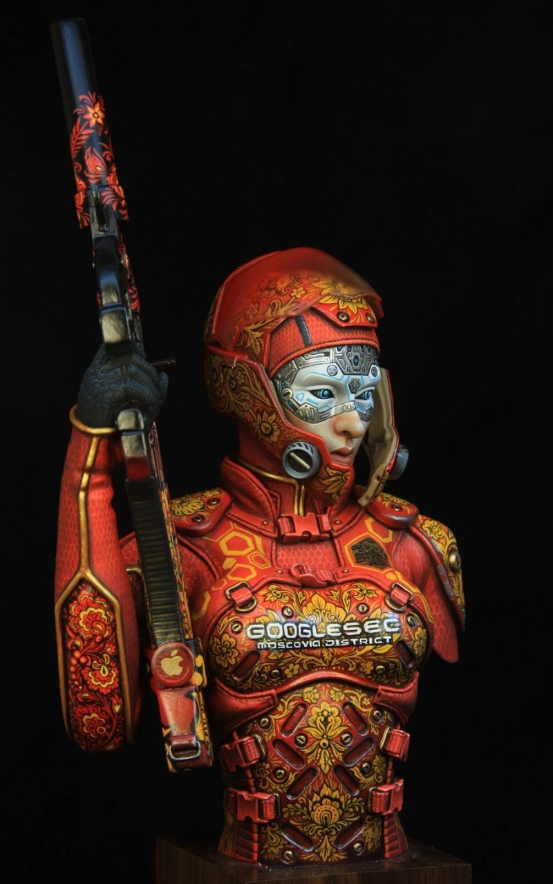 Hush 1\6 scale bust   Miniature Painting   Figure painting