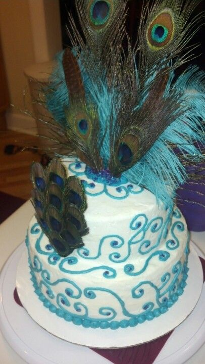 Peacock Birthday Cake Bakes By Jaymi Pinterest Birthday - Peacock birthday cake