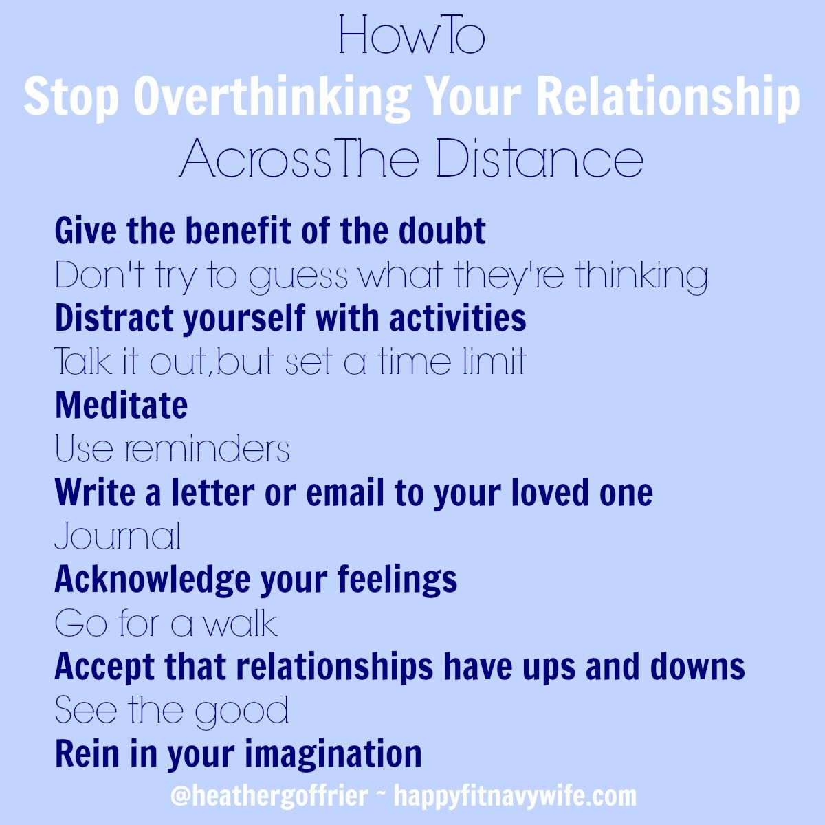 How to stop overthinking your relationship