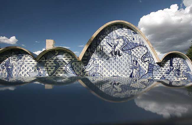 Igreja Da Pampulha By Oscar Niemeyer Tiles Panel By Candido