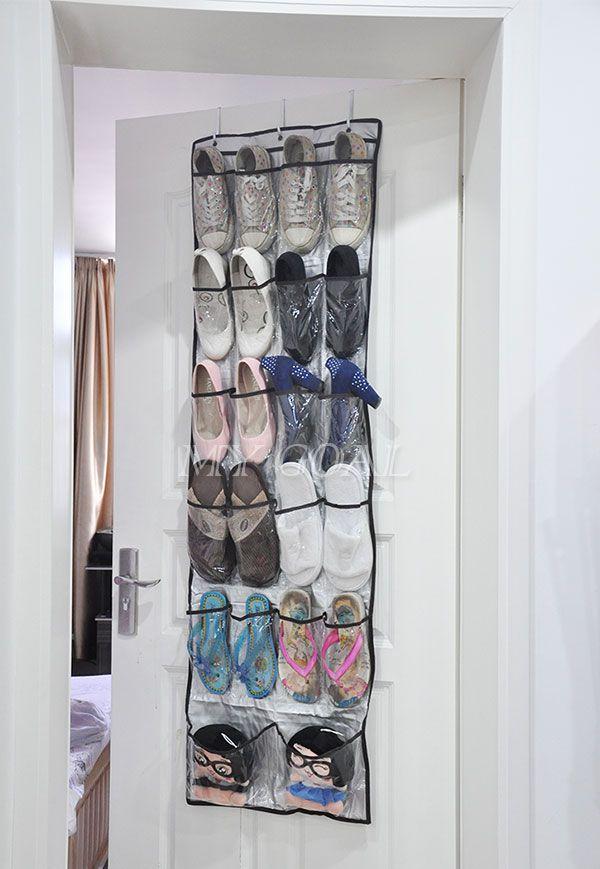 22 Pockets Clear Over Door Hanging Bag Shoe Rack Hanger Storage Tidy Organizer Ebay