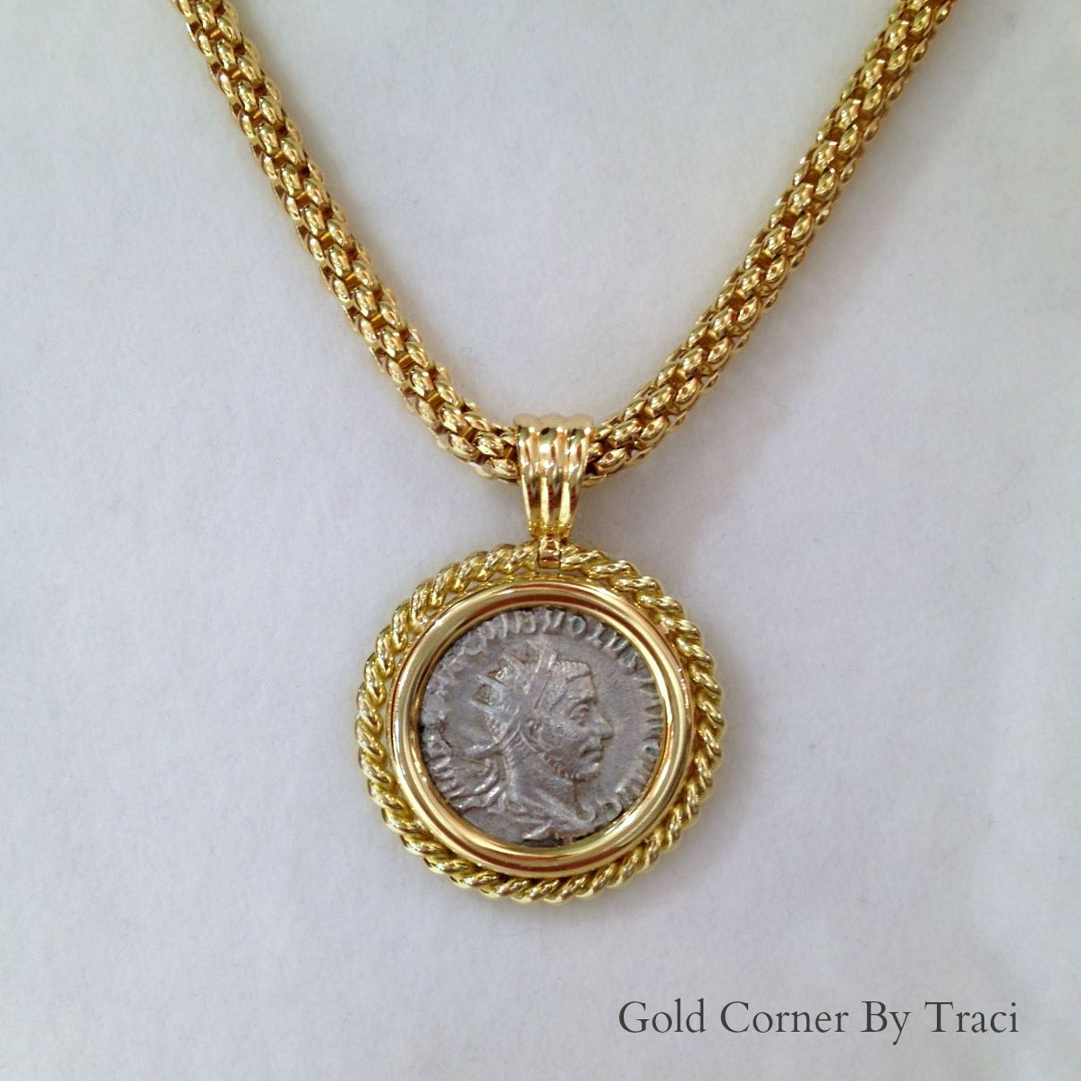 coin necklace roman daniella midi gold draper shop product