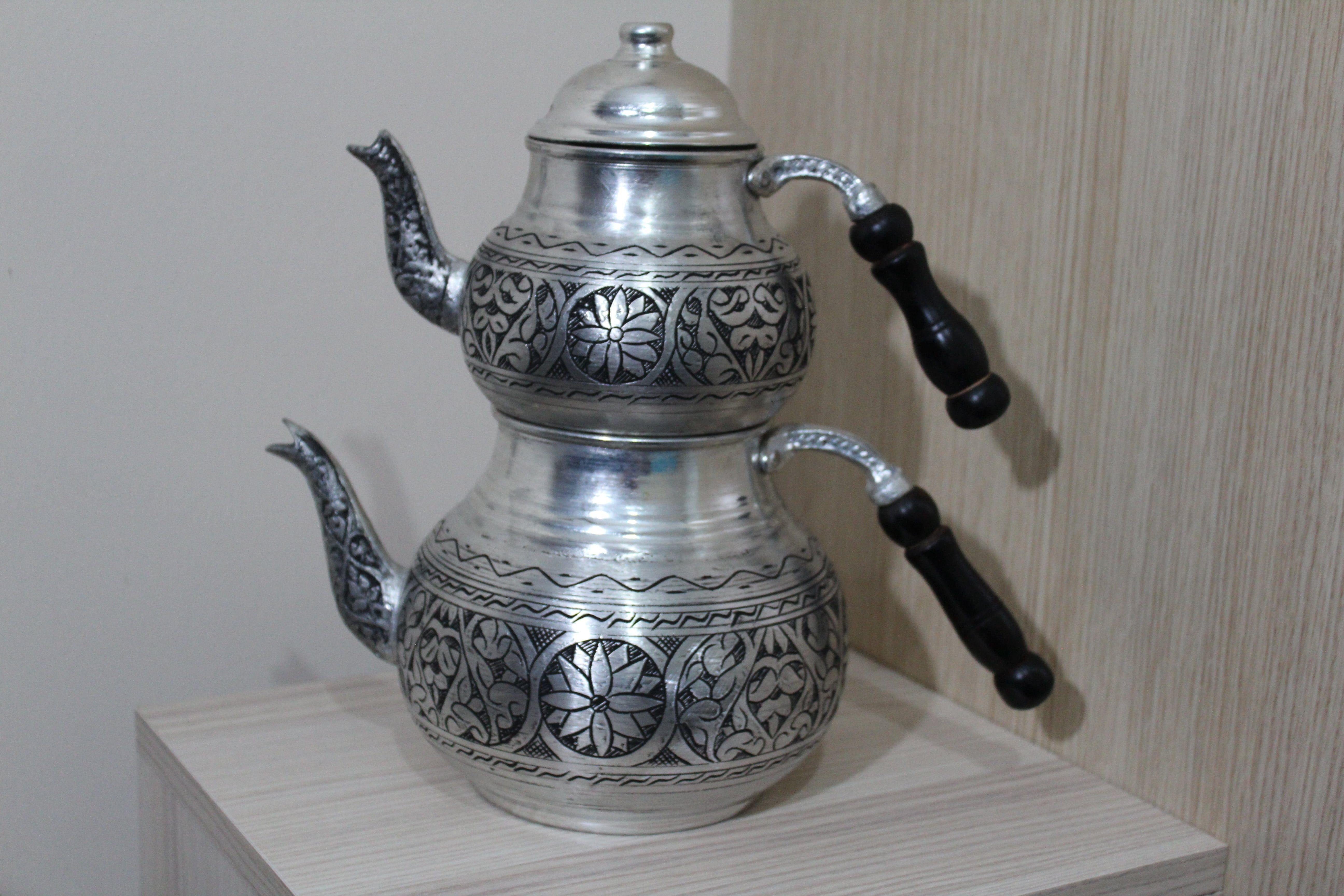 Copper tea kettle teapot pitcher pepper grinder