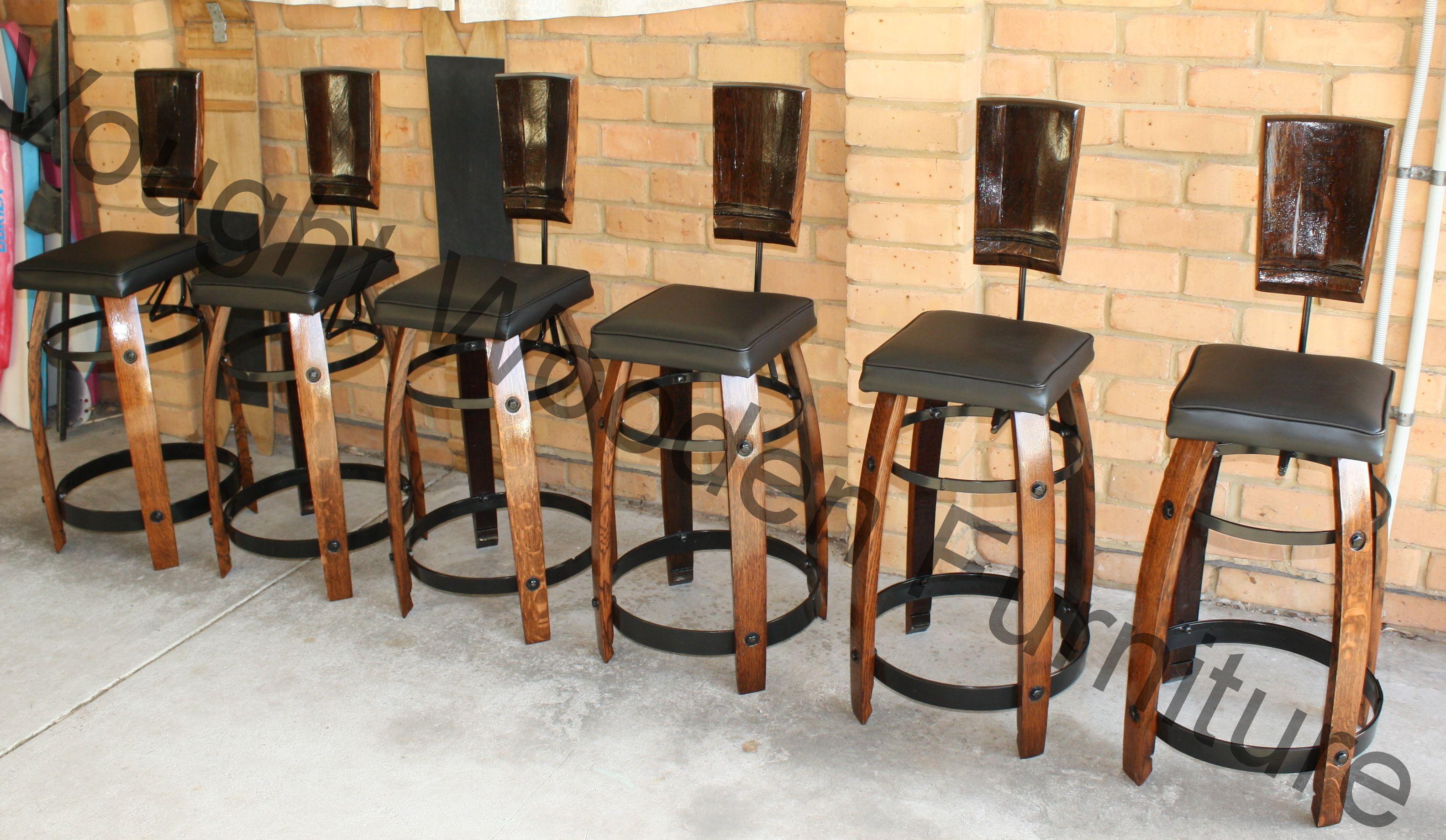 how to build a wine barrel bar stool
