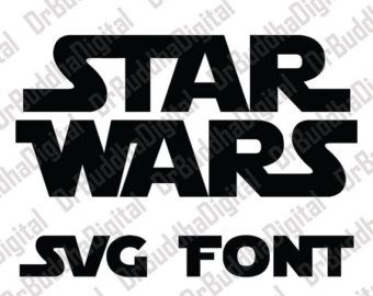 Star Wars Font, Star Wars Alphabet, Star Wars Svg, Star Wars