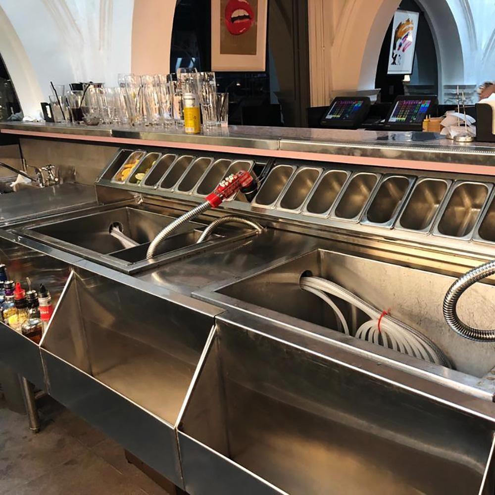 Stainless Steel Cocktail Prep Counter Restaurant Kitchen Design Commercial Kitchen Equipment Commercial Kitchen