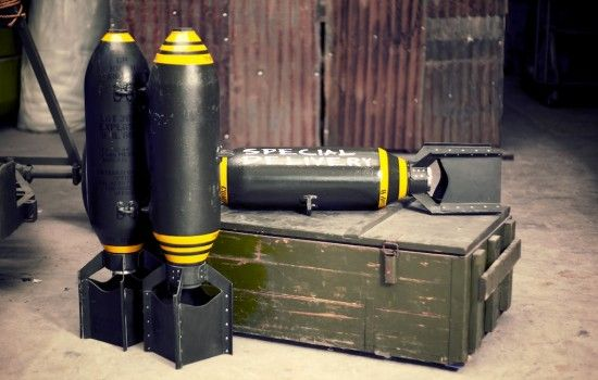 fake bomb prop - Google Search | Weapons | Metal Art, Garage