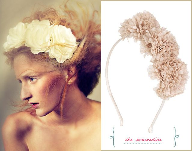 Hair Style with Flowers - Floral Fashion Hair Piece The Romantics