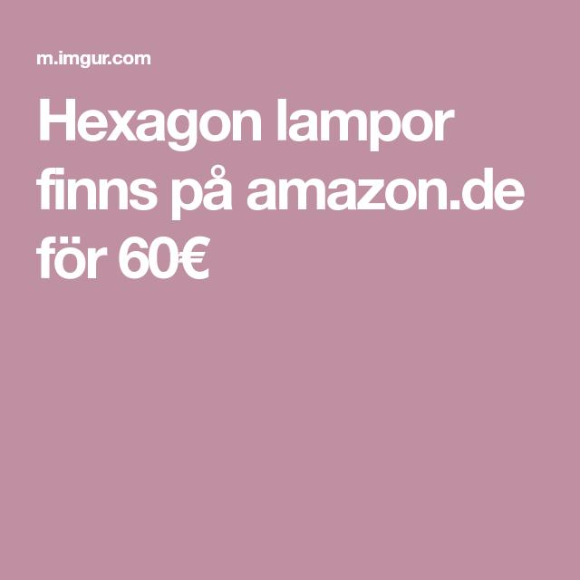 Hexagon Lampor Finns Pa Amazon De For 60 Cool Stuff Switch Hexagon