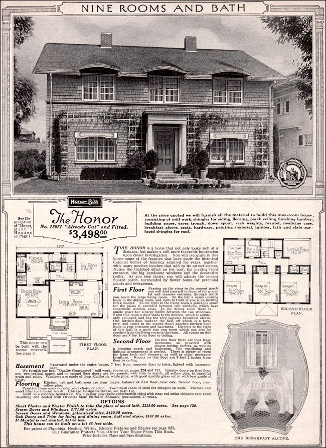 1923 Sears Honor Planos casas Pinterest Sleeping porch