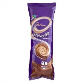 Cadbury Instant Hot Chocolate Cups 8 Pack Choco Drink