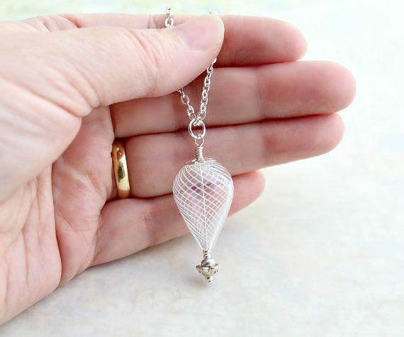 Silver Hot Air Balloon Necklace
