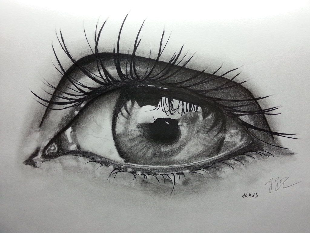 Pencil Drawing ~ Eye 2 by ozastark.deviantart.com on ...