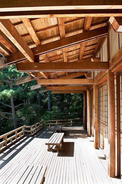 Japanese Porch Traditional Japanese House Roof Architecture