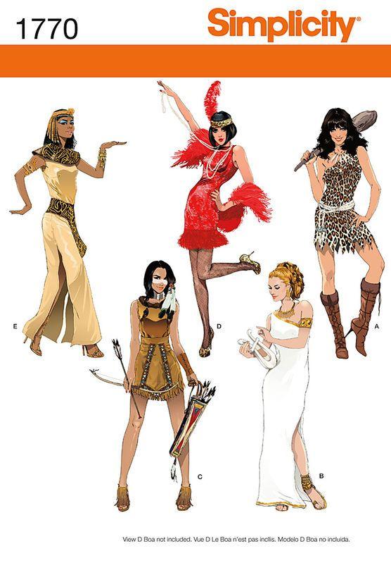 Simplicity 4940 - Patrones de costura para disfraces de mujer ...