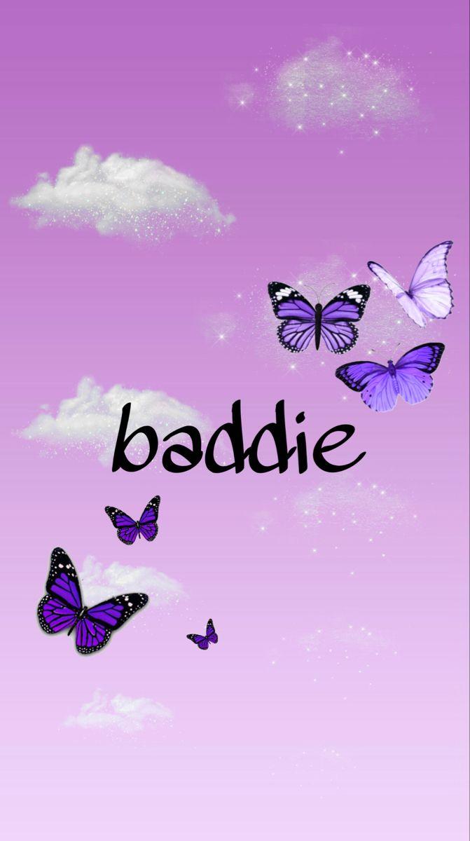 purple baddie wallpaper