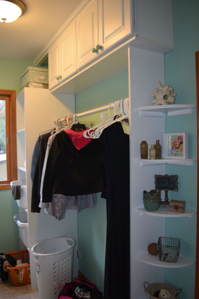 We Redid Our Laundry Room This Is One Wall Used Upper Cabinets