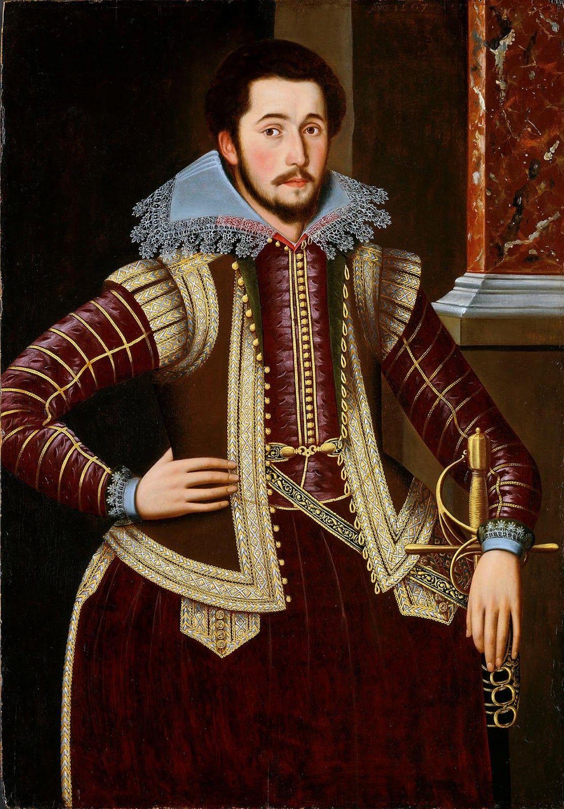 A Renaissance Noble Dixseptième siècle, Portrait, Courtier