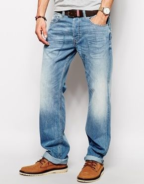 d627d5a7 Diesel Jeans Larkee Relaxed 830Z Loose Fit Light Wash - Light wash ...