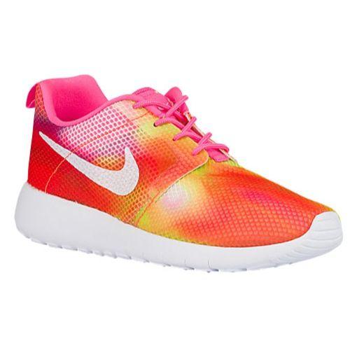 girls nike skate shoes,Nike Roshe One Flight Weight - Girls' Grade School -  Running - Shoes - Pink