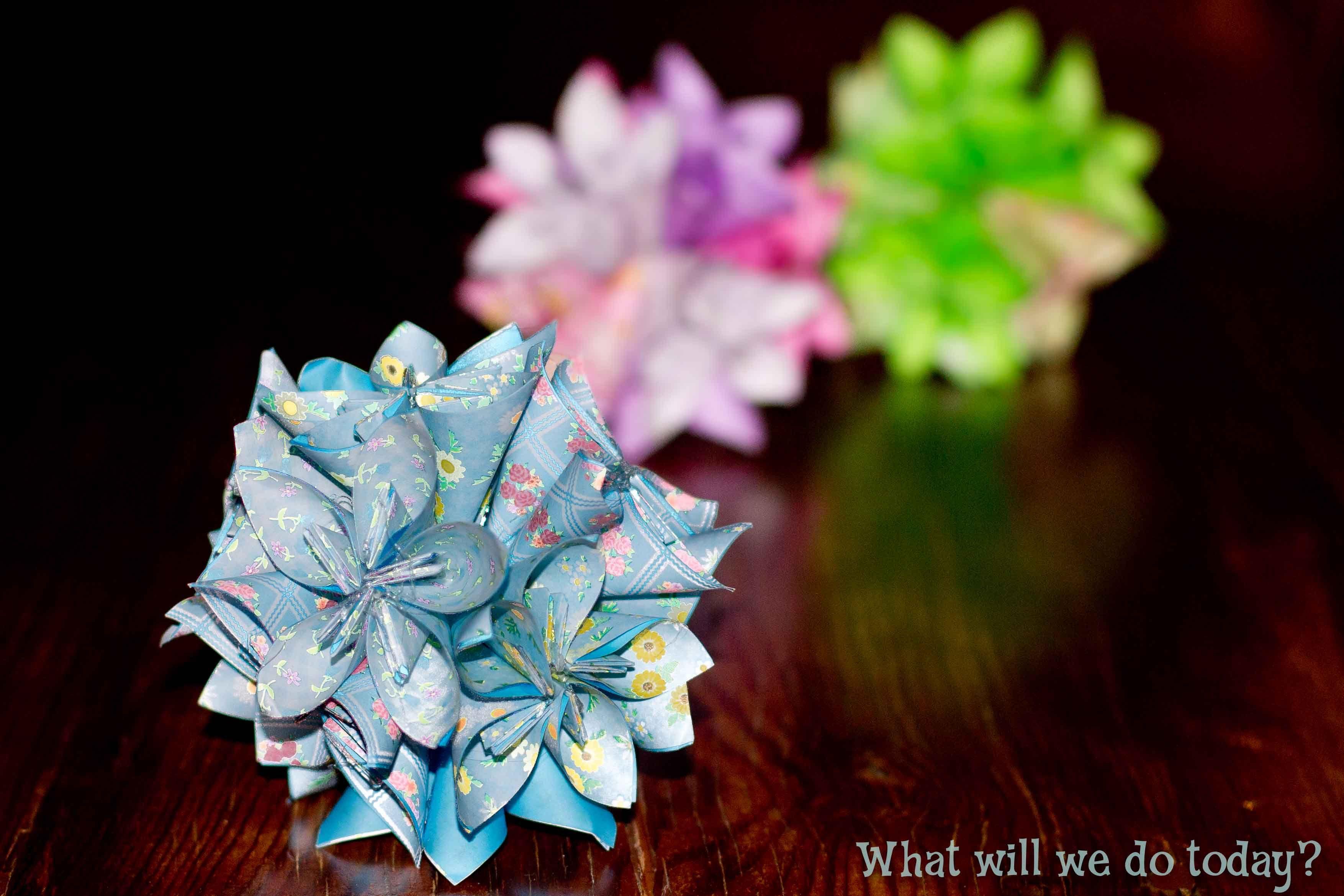 Pomander Like Ball Of Oragami Flowers Flowers Hair Bows