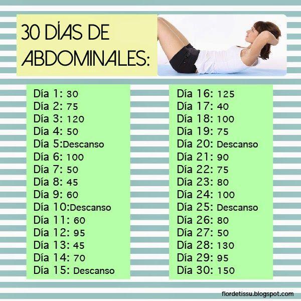 Reto de abdominales por 30 dias adelgazar