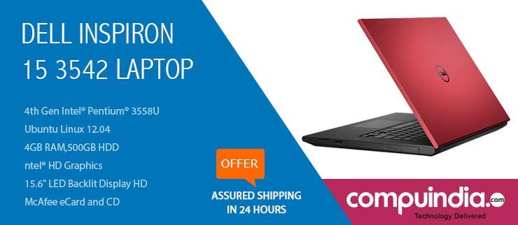 The Dell Inspiron 15 3542 laptop with Intel® Pentium® 3558U