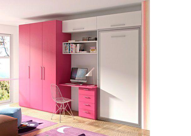 Dormitorio Juvenil con abatible vertical y armario. | Novedades de ...