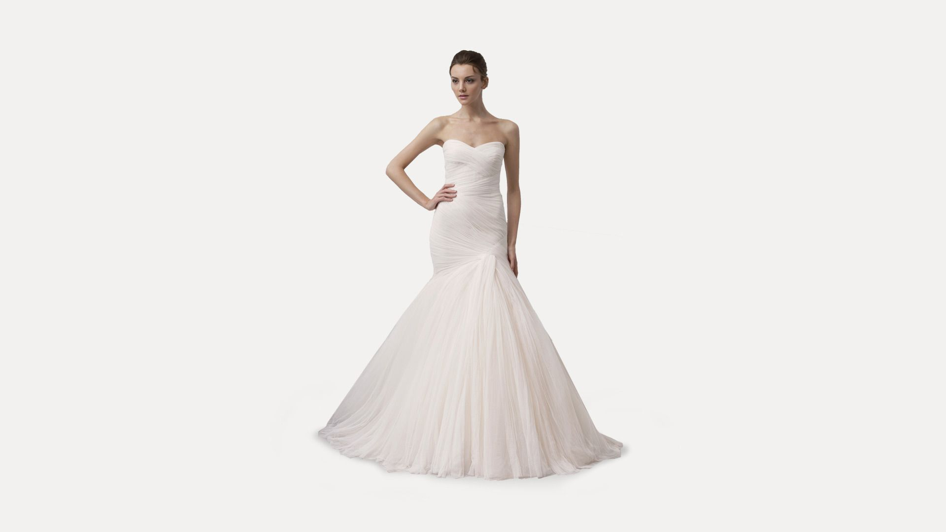 Cheap Wedding Gowns Toronto: Monique Lhuillier Forever - Blush Spanish Tulle