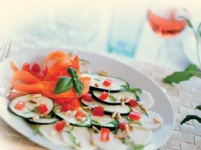 carpaccio di verdure con Aceto Balsamico Waldburg di Mela e Olio al Basilico VOM FASS