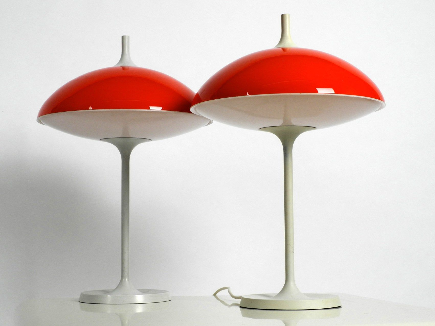Pair Of Large 60s Pop Art Space Age Table Lamp By Temde Made In Switzerland Pop Art Space Art Lamp