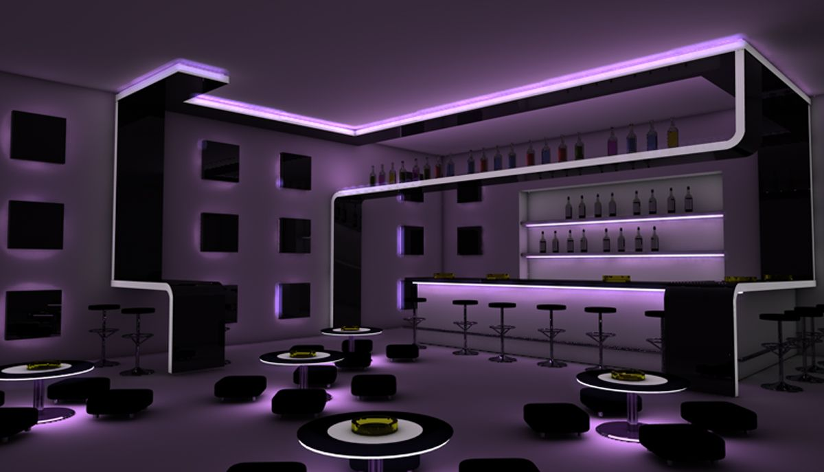 Dining Room  Nice Looking Bar Design Inspiration With Amazing Black Bar  Table And Modern Black Bar Stools Also Stylish Black White Round Tables  Plus  Resultados da Pesquisa de imagens do Google para http www  . Nightclub Lighting Design Installation. Home Design Ideas