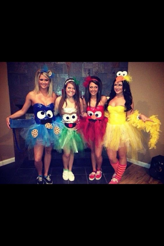 easy sesame street halloween costumes for older girls middle school high school college and sororities