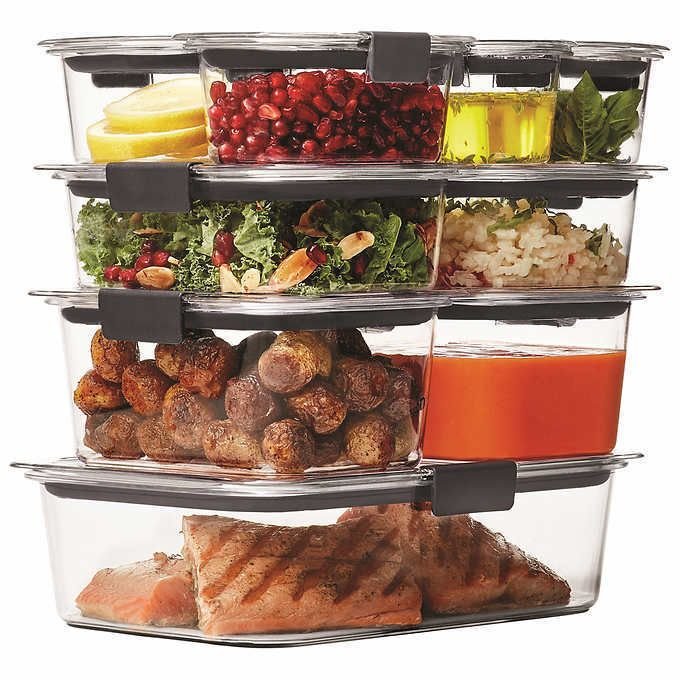 Rubbermaid Brilliance Food Storage Container Set 22 Piece Clear Fascinating Rubbermaid Brilliance 18Piece Food Storage Set Stain & Odor Decorating Inspiration