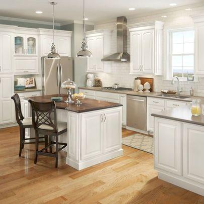 lowe\'s kitchens white cabinets hardwood floors | Lowe\'s, cabinets ...