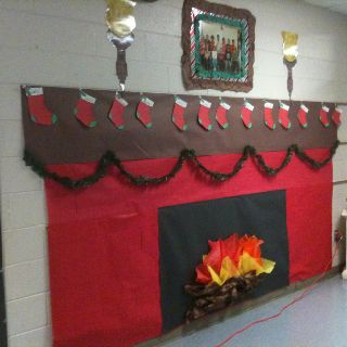 Winter Scene 2 For Classroom Class Ideas Kindergarten