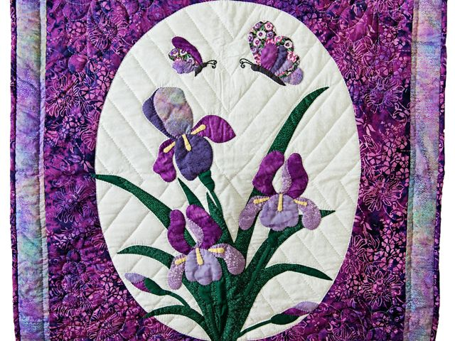 Iris Applique Quilt -- exquisite cleverly made Amish Quilts from ...