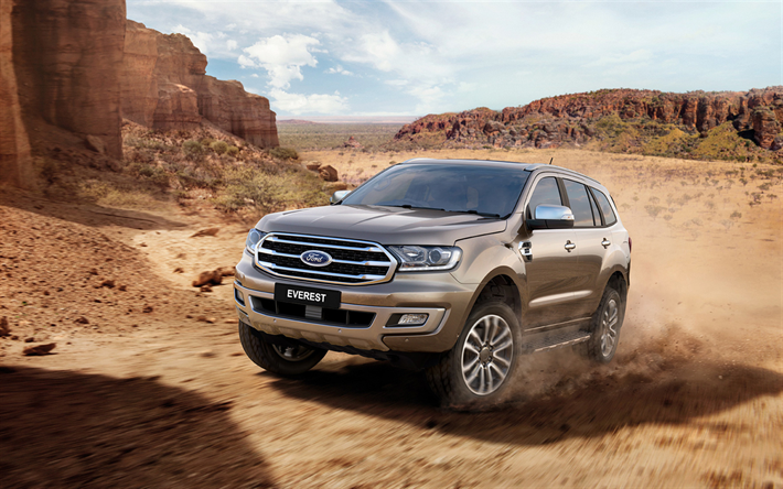 Download Wallpapers Ford Everest Offroad 2018 Cars Desert Suvs American Cars Ford Besthqwallpapers Com Ford Endeavour Ford Suv 2019 Ford