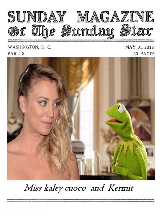Miss Kaley Cuoco  and  Kermit