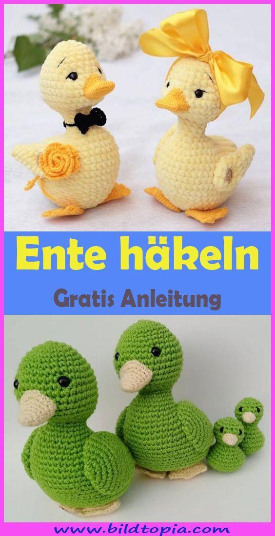 Häkeln Sie Amigurumi-Ente - kostenlose DIY-Anleitung - Kleiner Balkon Ideen #crochetamigurumi