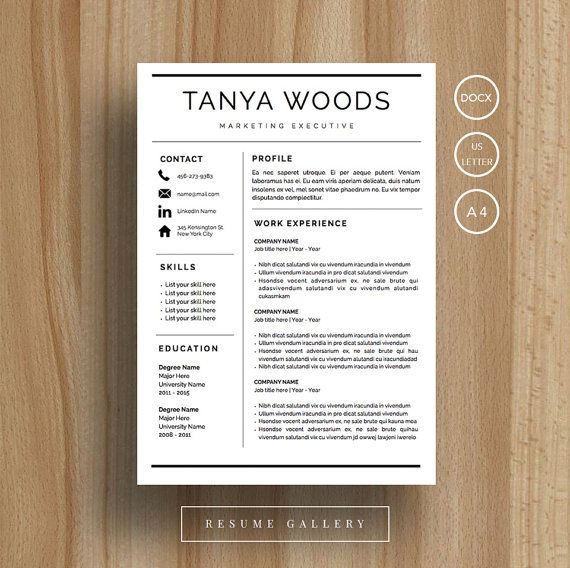 Professional Resume Template | CV Template | Cover Letter | For MS Word /  IWork |