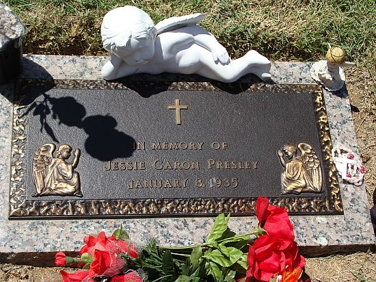 Memorial Tombstone For Elvis Identical Twin Brother Who Was