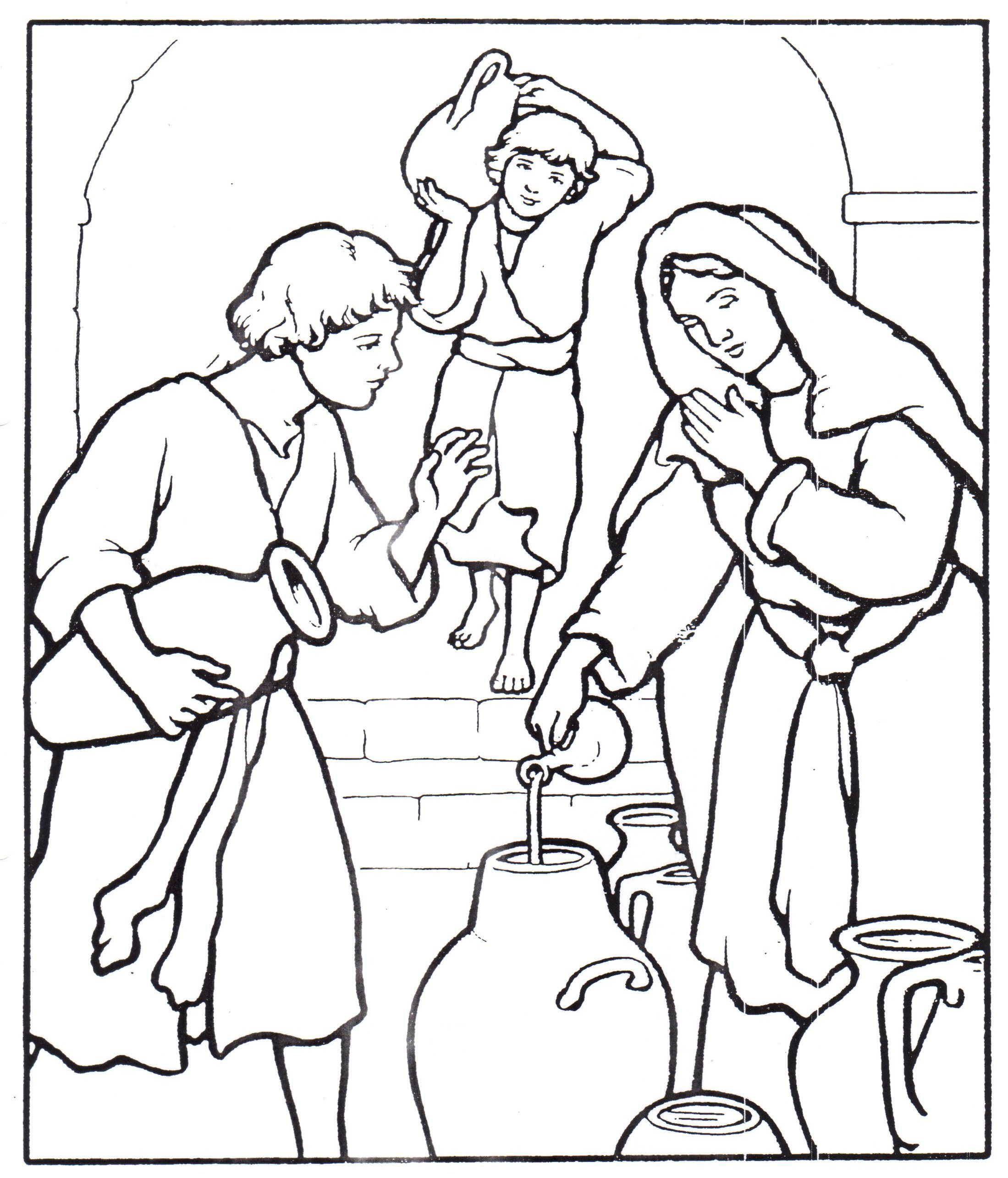 Widow S Oil Sunday School Coloring Pages Sunday School