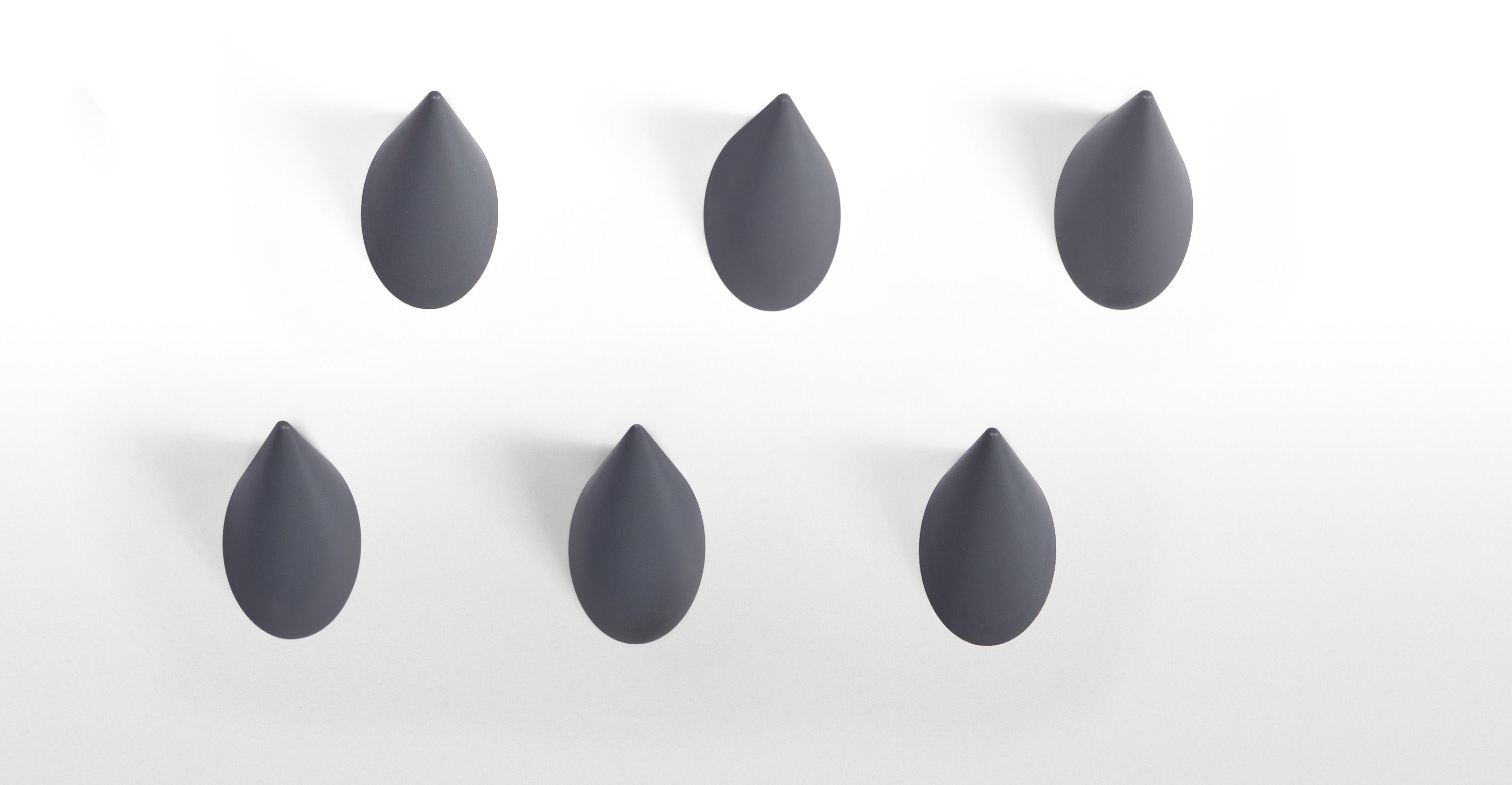 Limpet hooks in grey, set of 6   made.com