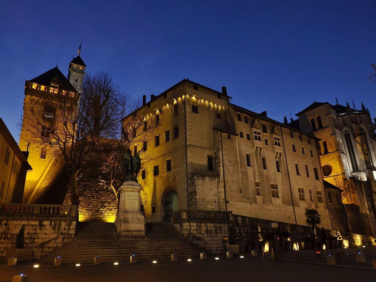 Château des Ducs de Savoie un soir d'hiver