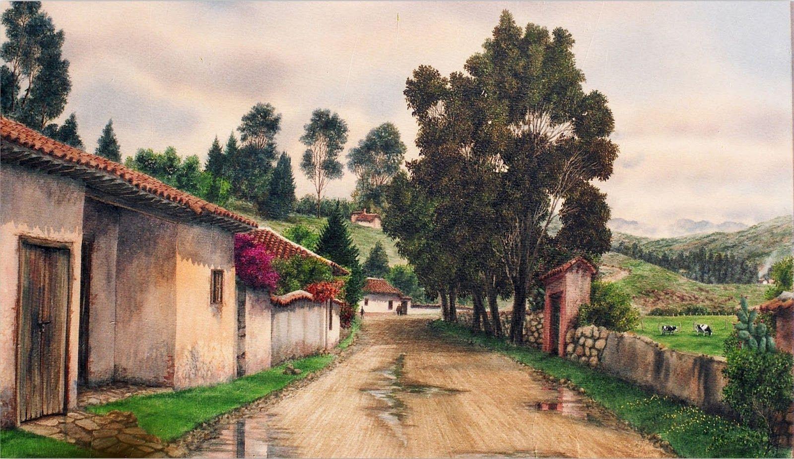 Cuadros Modernos Pinturas y Dibujos : Paisajes Colombianos Pintados ...