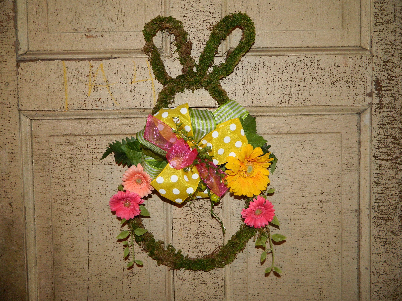 Photo of Easter Rabbit Bunny Door Weath – bunny wreath – vine wreath – daisy wreath