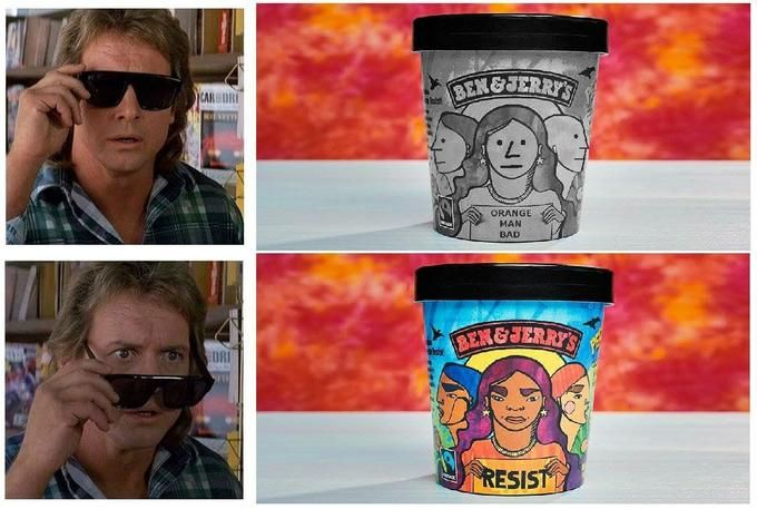 Orange Man Bad | Ben, jerrys, Orange, Ice cream images